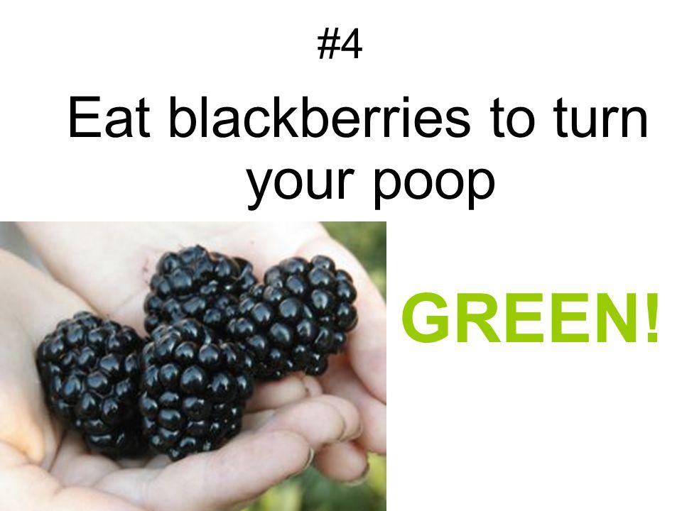 #4 Eat blackberries to turn your poop GREEN!