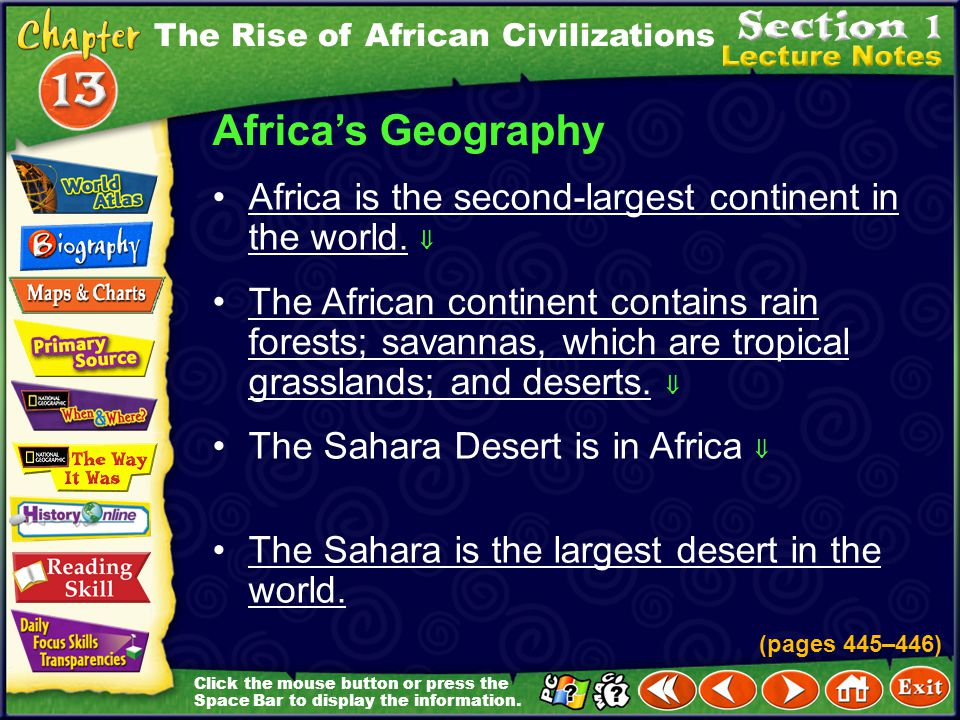 Focus on Everyday Life Salt mining began in the Sahara in the Middle Ages.