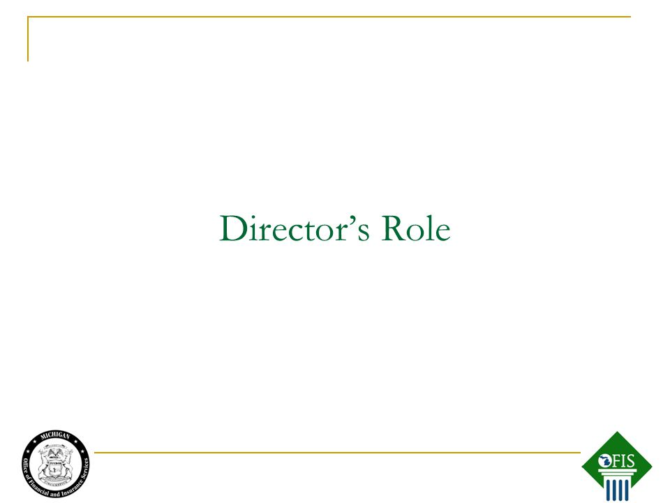Director's Role