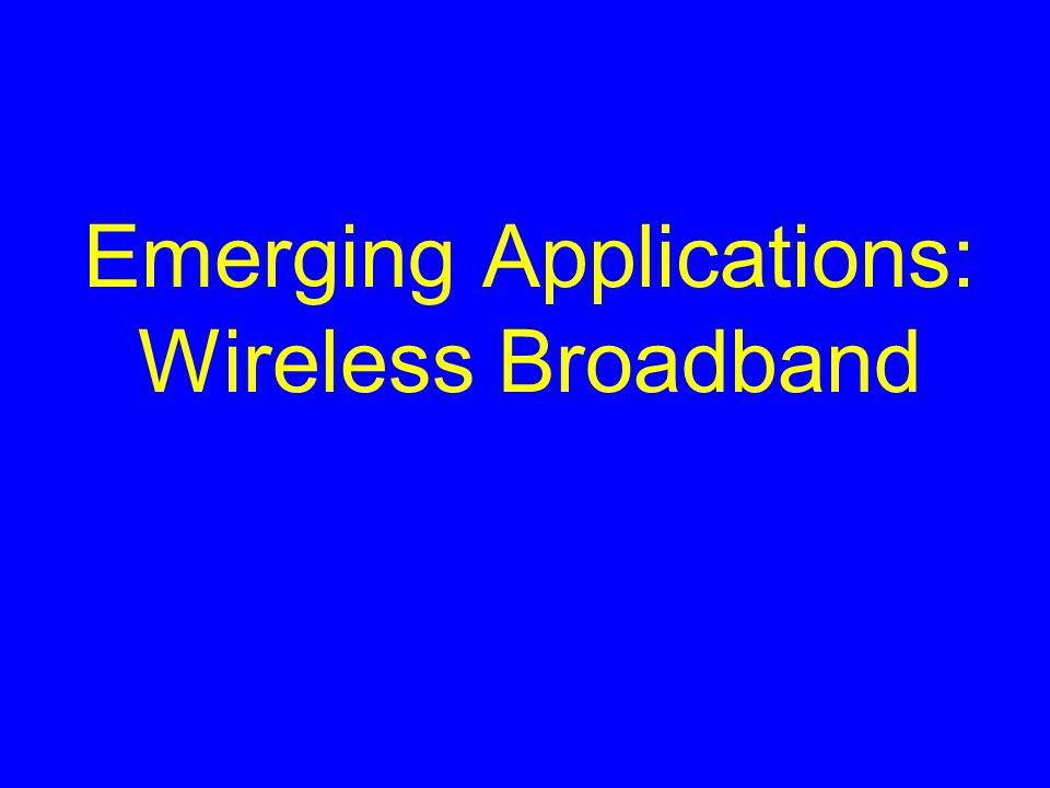Emerging Applications: Wireless Broadband
