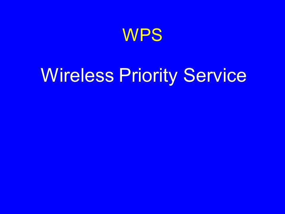 WPS Wireless Priority Service