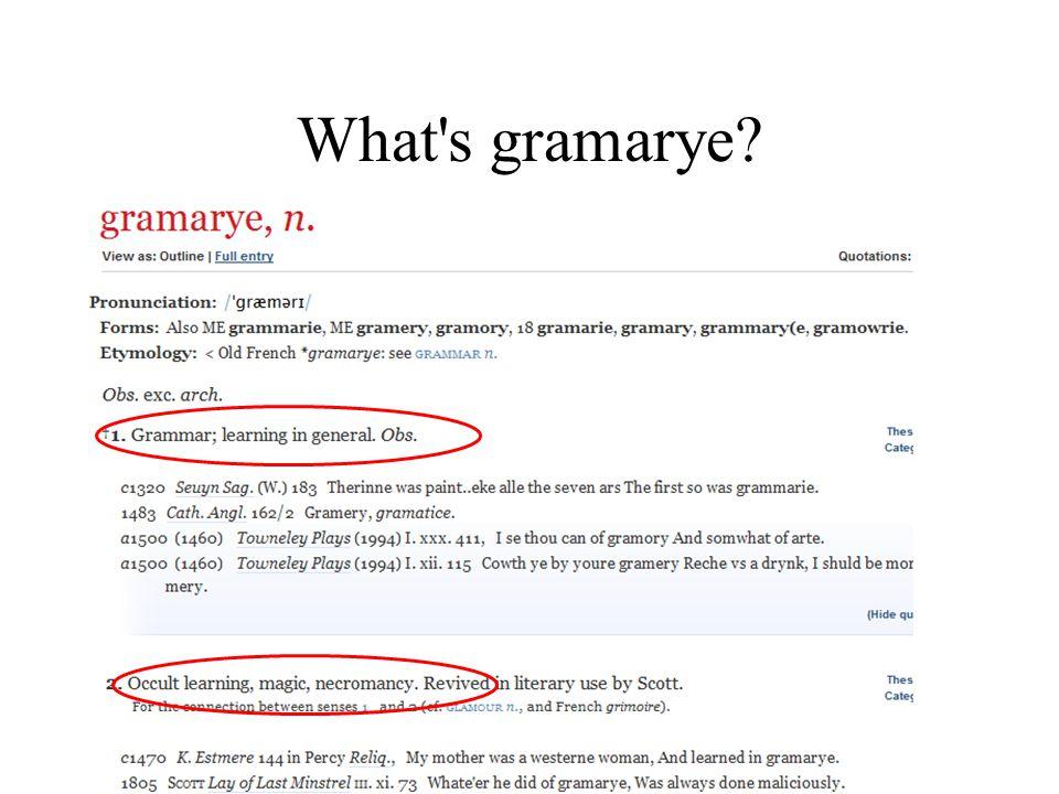What s gramarye?