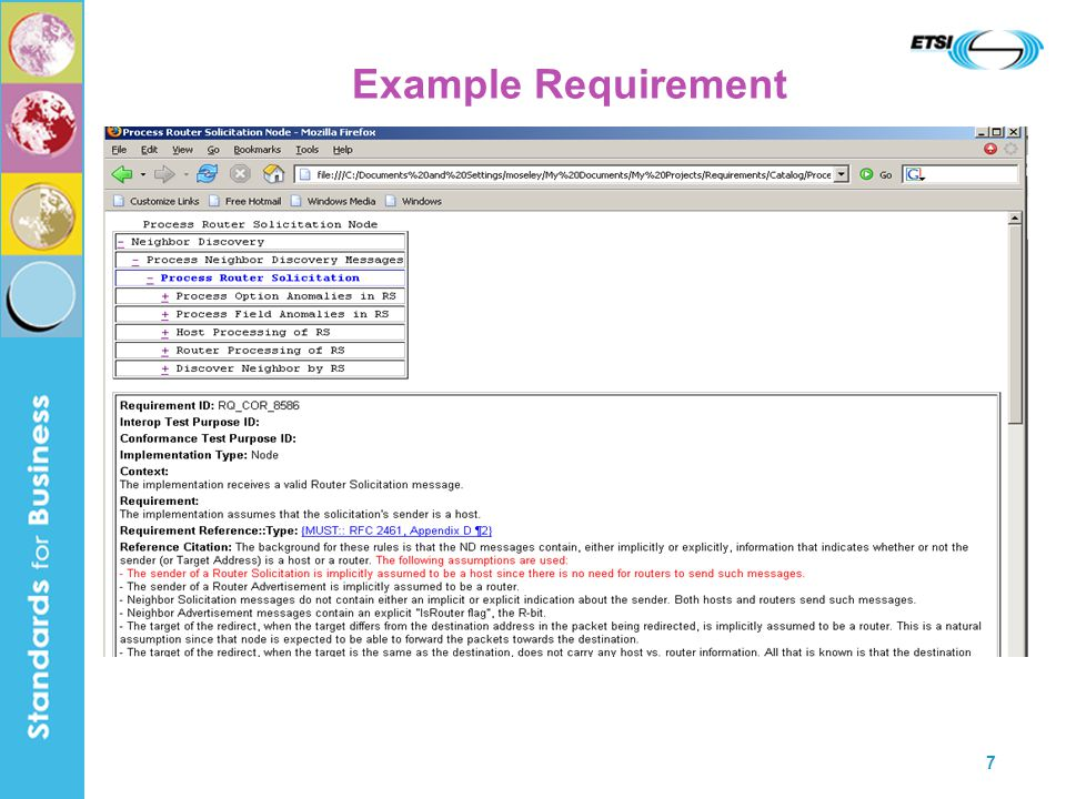 7 Example Requirement