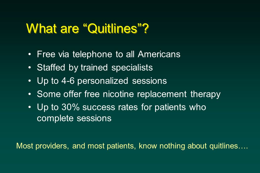 What are Quitlines .
