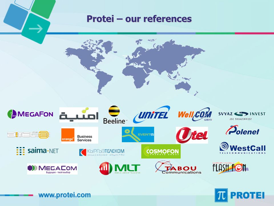 Protei – our references
