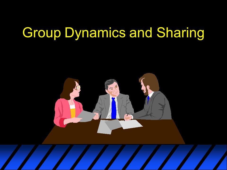 Group Dynamics and Sharing