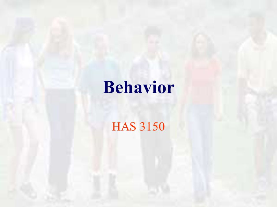 � Individuals modify their behavior or environment in order to change.