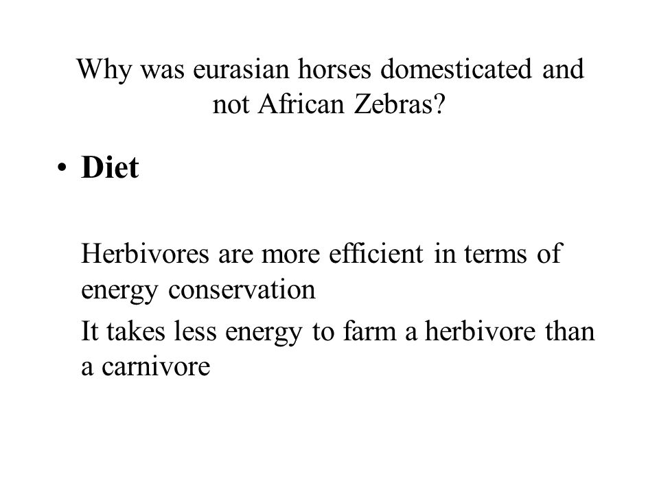 Why was eurasian horses domesticated and not African Zebras.