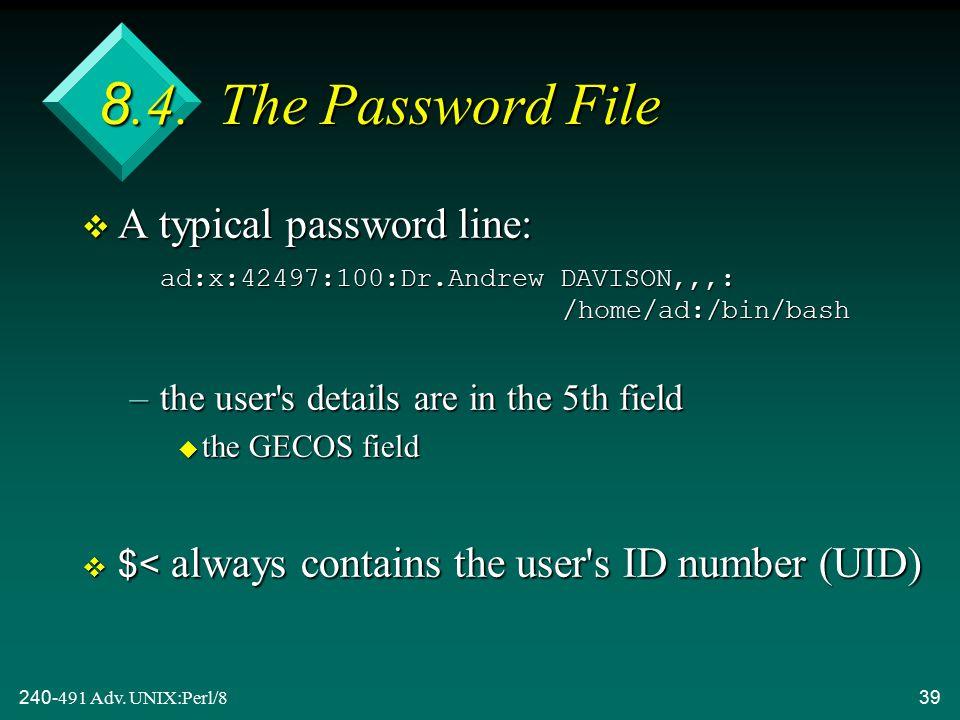 240-491 Adv. UNIX:Perl/839 8.4.