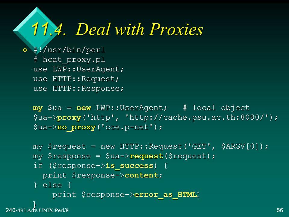 240-491 Adv. UNIX:Perl/856 11.4.