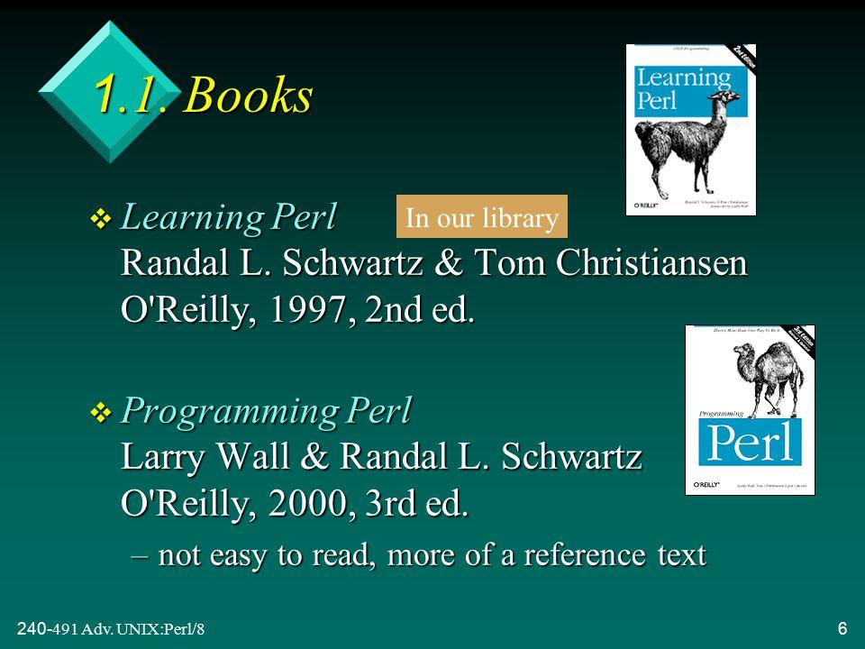 240-491 Adv.UNIX:Perl/87 1.2.
