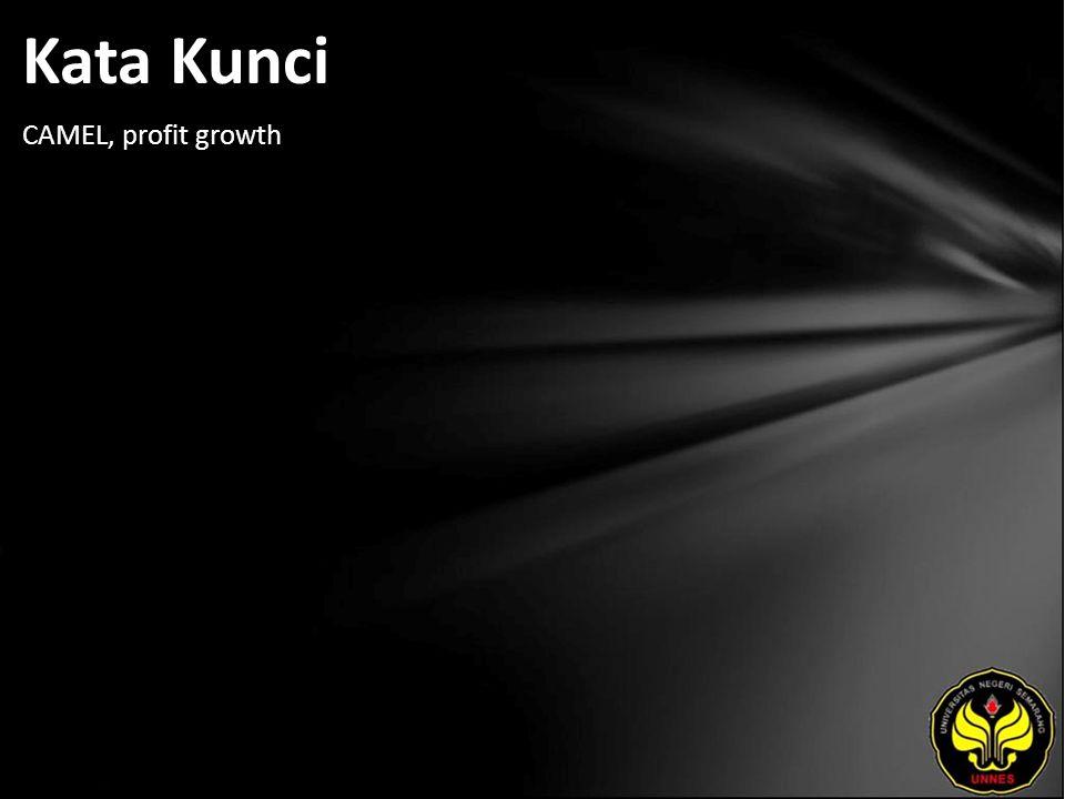 Kata Kunci CAMEL, profit growth