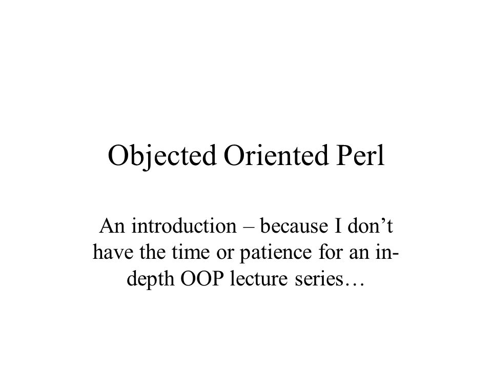Classes in Perl A class is defined by storing code which defines it in a separate file, and then use ing that file The file must be named with the name of the class (starting with an capital letter), followed by the extension.pm After the shebang in your 'main' file, this line of code: use ; You can then create instances of the class anywhere in your file.