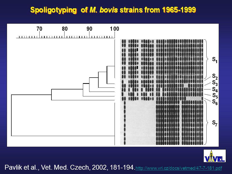 Pavlik et al., Vet. Med. Czech, 2002, 181-194.
