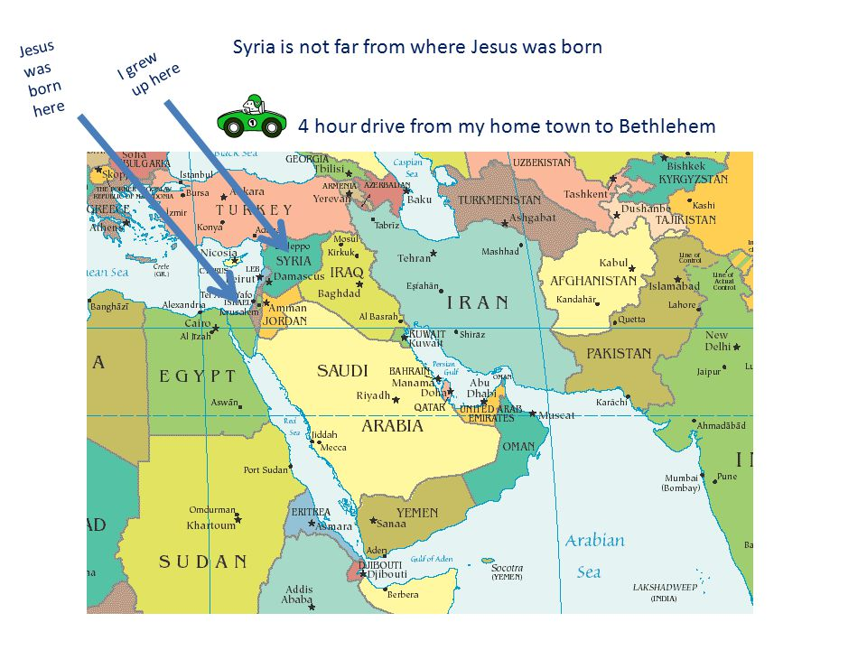 10% of the population in Syria is Christian or Orthodox o The majority of the population is Muslim o Muslims believe Jesus is a prophet or messenger sent by God (not the son of God – as believed by Christians) o I was raised Muslim but also have Christian relatives.