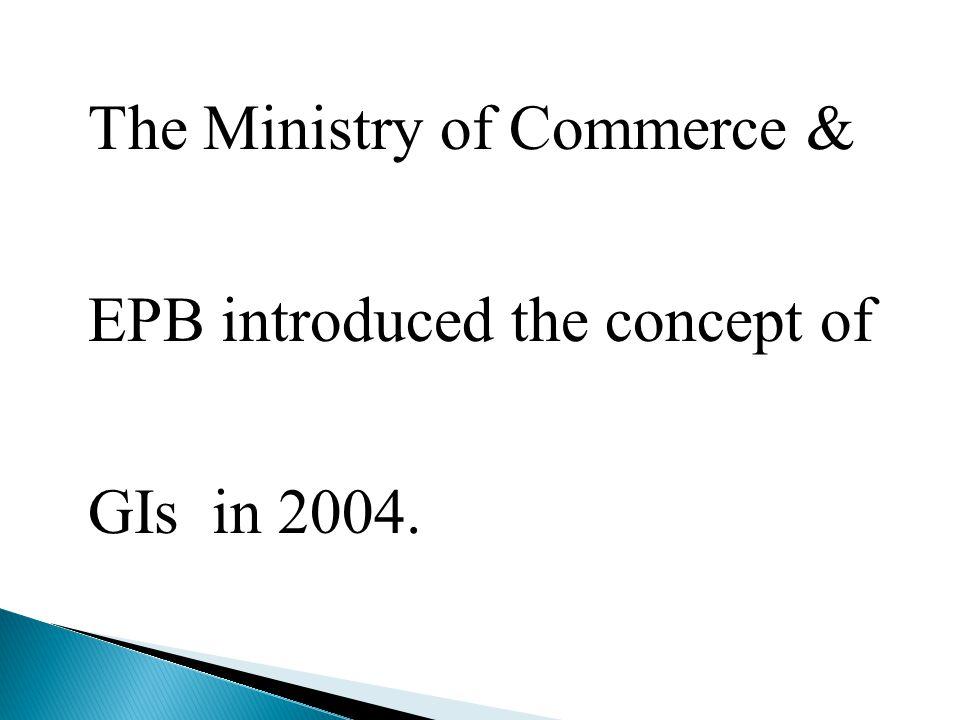 The first GI organization -2005 Basmati GI application -2005