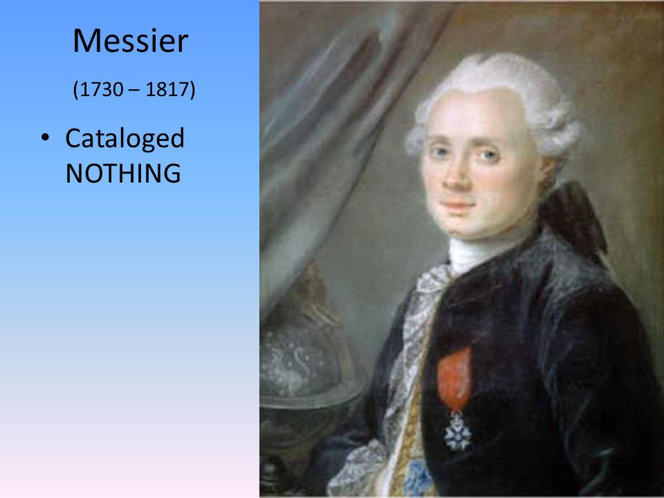 Messier (1730 – 1817) Cataloged NOTHING