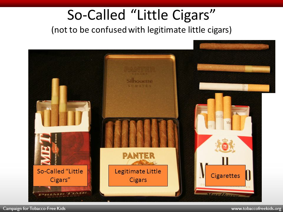 Campaign for Tobacco-Free Kids www.tobaccofreekids.org $10.69 per carton = $1.07 per pack Cheap Flavored Little or Filtered Cigars