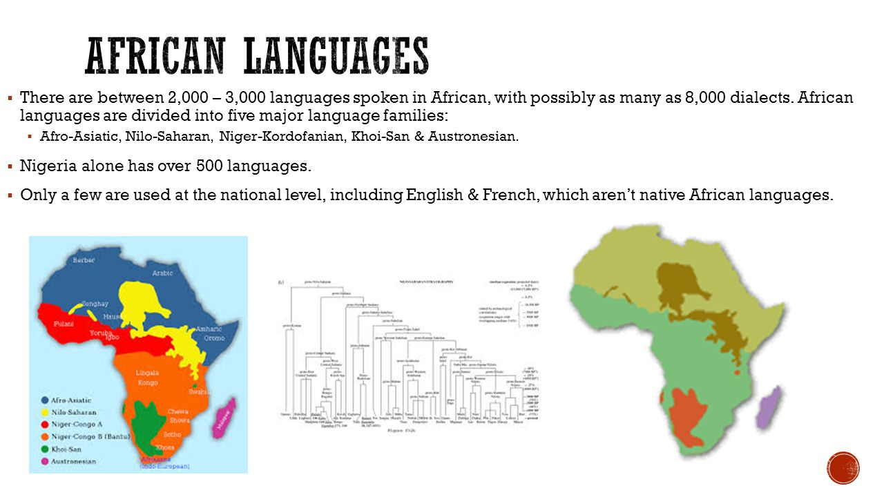  There are between 2,000 – 3,000 languages spoken in African, with possibly as many as 8,000 dialects.