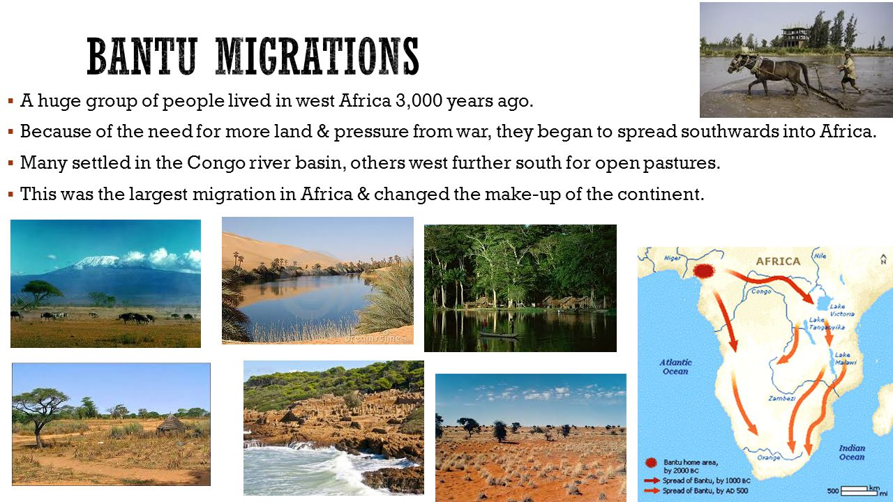  A huge group of people lived in west Africa 3,000 years ago.