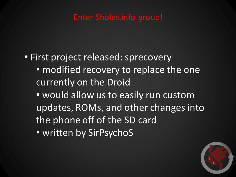 Enter Sholes.info group.