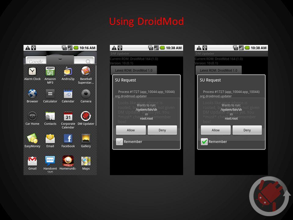 Using DroidMod