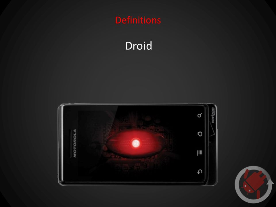 Definitions Droid