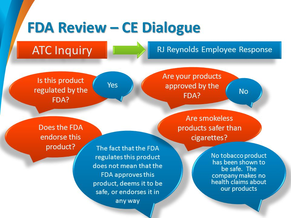 FDA Review – CE Dialogue Is this product regulated by the FDA.