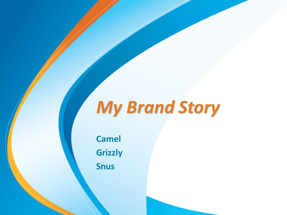 My Brand Story Camel Grizzly Snus