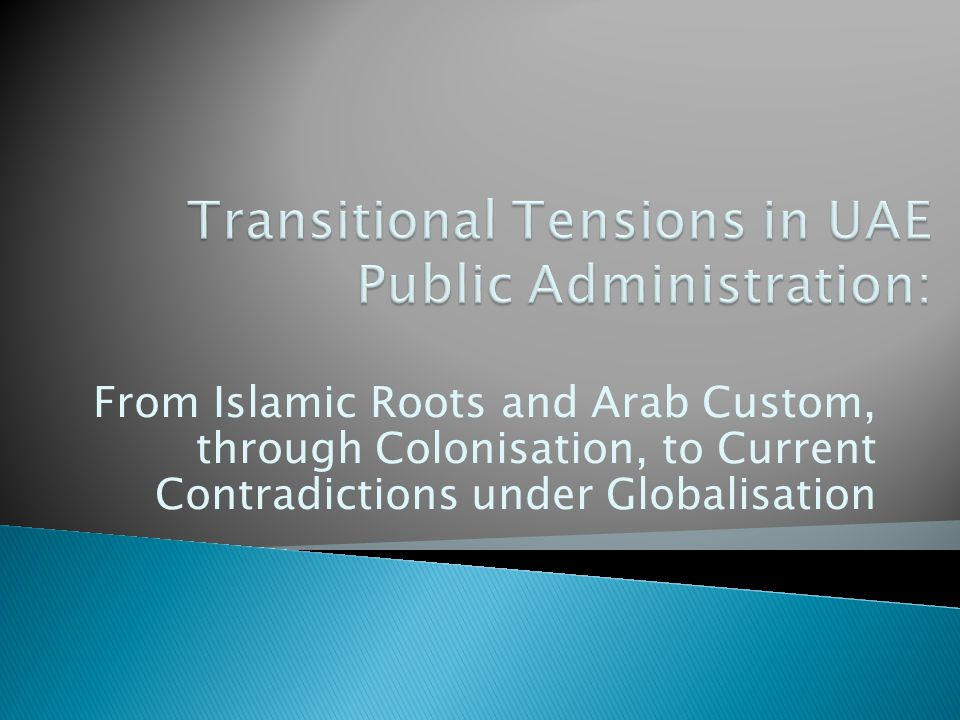 From Islamic Roots and Arab Custom, through Colonisation, to Current Contradictions under Globalisation