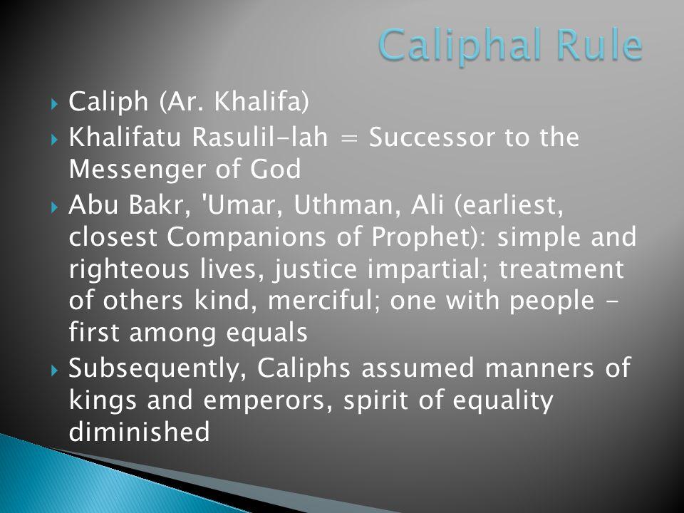  Caliph (Ar.