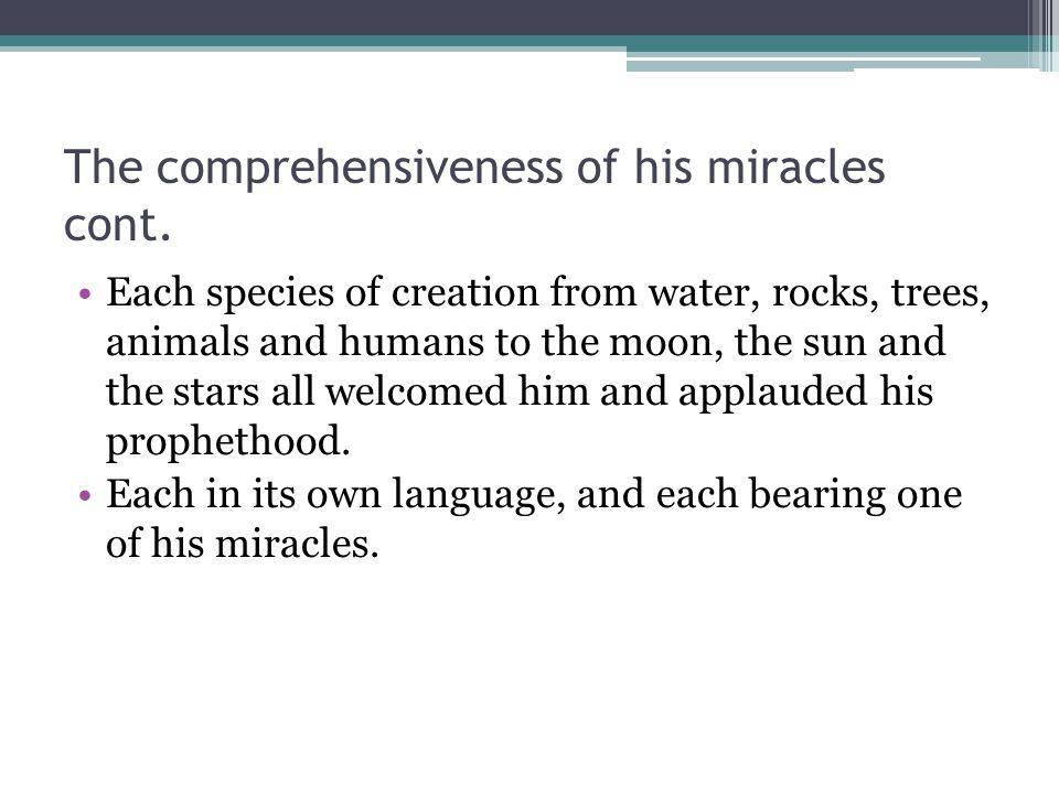 Miracles involving trees cont.Usama b.