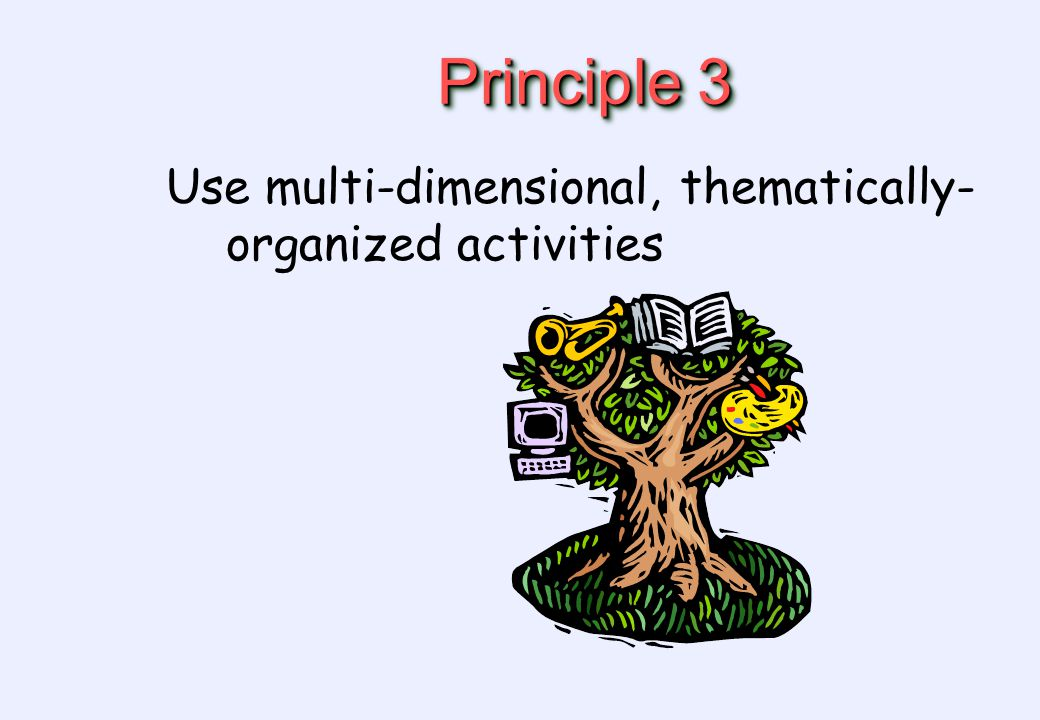 Principle 3 Use multi-dimensional, thematically- organized activities