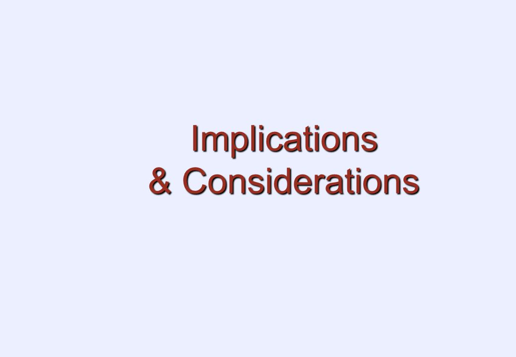 Implications & Considerations