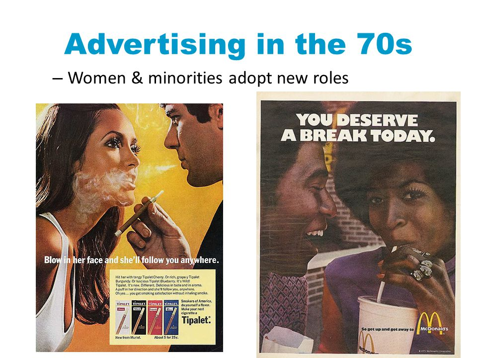 Advertising in the 70s – Women & minorities adopt new roles