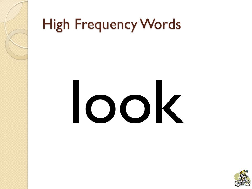 High Frequency Words look