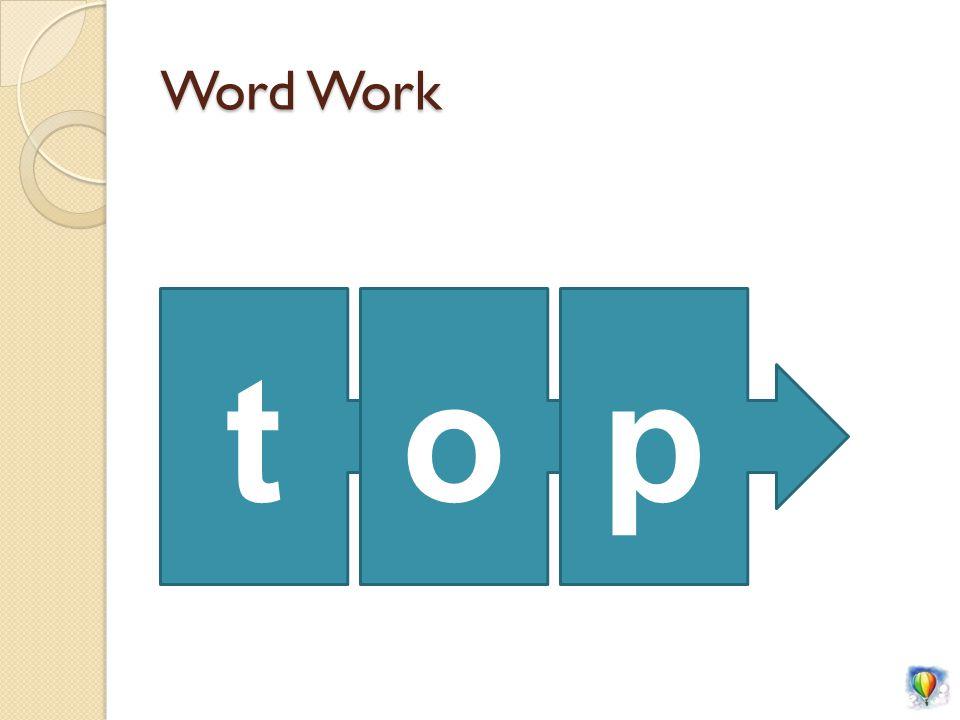 Word Work top