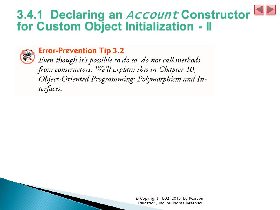 3.4.1 Declaring an Account Constructor for Custom Object Initialization - II