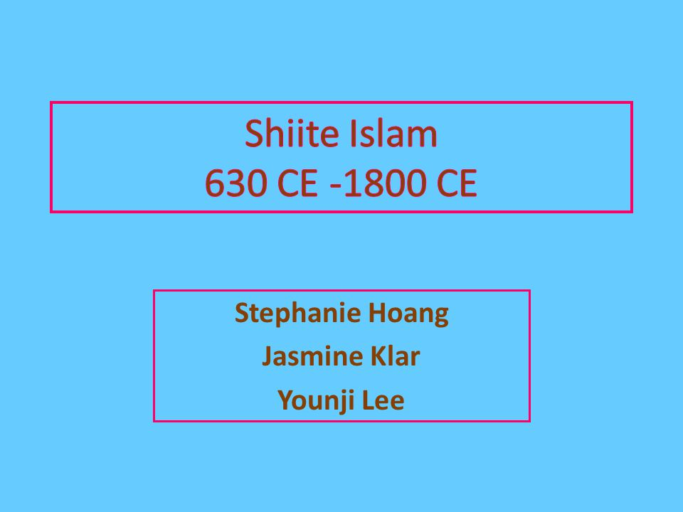 Stephanie Hoang Jasmine Klar Younji Lee