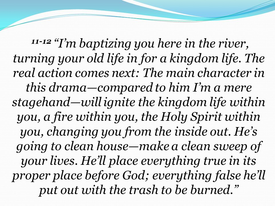 CHANGE YOUR LIFE – GOD'S KINGDOM IS HERE