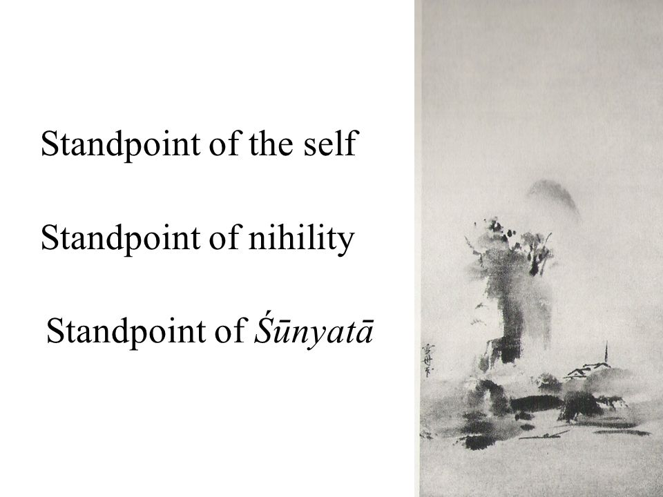 Standpoint of Śūnyatā Standpoint of the self Standpoint of nihility