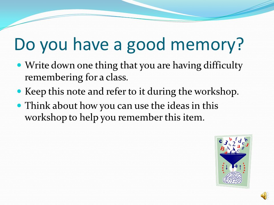 How to improve your memory for studying