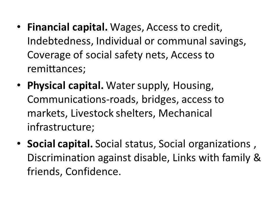 Financial capital.