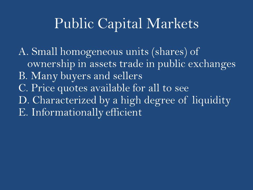Public Capital Markets A.