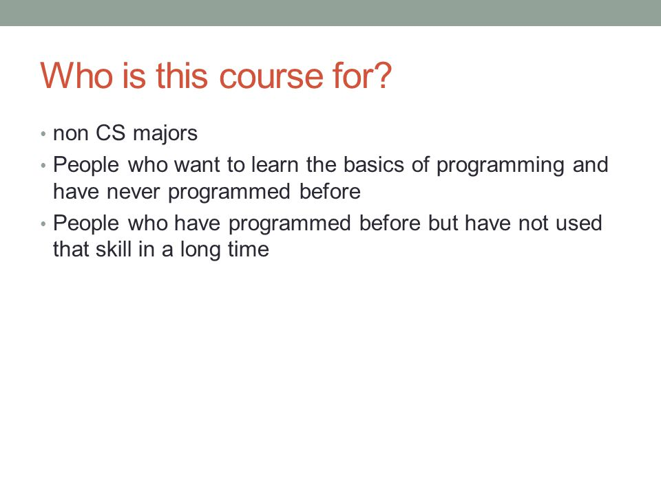 Who is this course for.