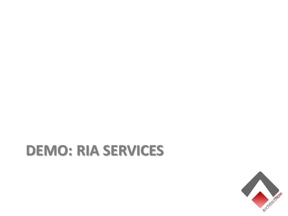 DEMO: RIA SERVICES