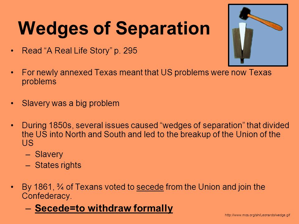 Wedges of Separation Read A Real Life Story p.