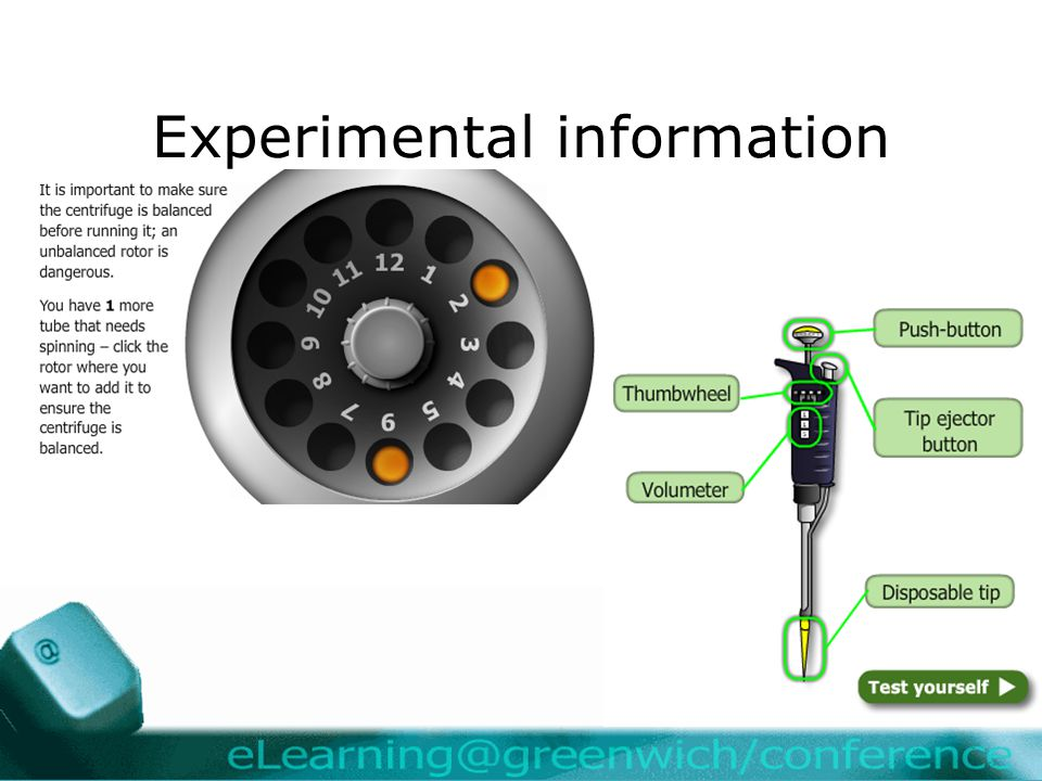 Experimental information