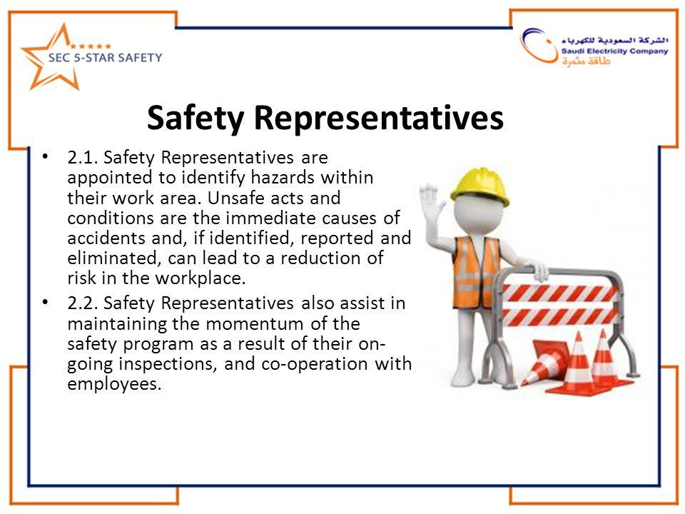 Safety Representatives 2.1.