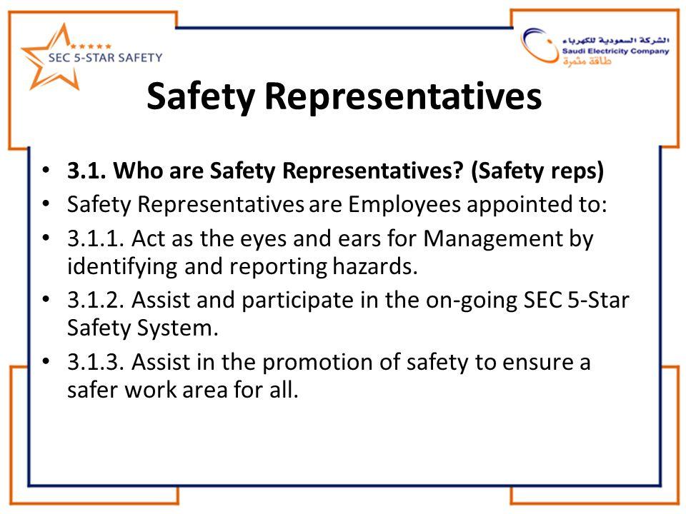 Safety Representatives 3.1.Who are Safety Representatives.